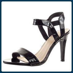 Sopily - damen Mode Schuhe Pumpe Stiletto glänzende Schleife - Schwarz WL-330-6 T 39 - Damen pumps (*Partner-Link)