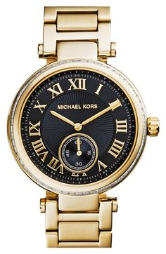 MICHAEL Michael Kors Michael Kors 'Skylar' Crystal Bezel Bracelet Watch, 42mm available at #Nordstrom