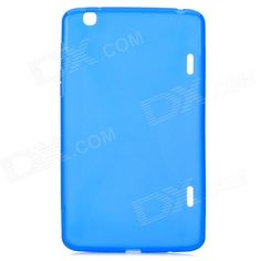 YI-YI Protective TPU Back Case w/ Screen Protector for 8.3 LG G Pad / V500 - Blue