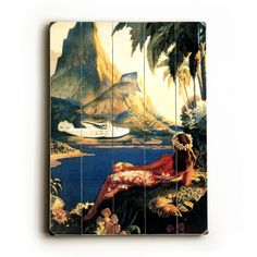 Hawaiian Travel Ads (Vintage Art) Prints, Prints, Paintings & Wall Art for Sale Travel Ads, Vintage Art Prints, South Seas, Sale Poster, Vintage Travel Posters, Online Art, Find Art, Wood Signs, Wall Art
