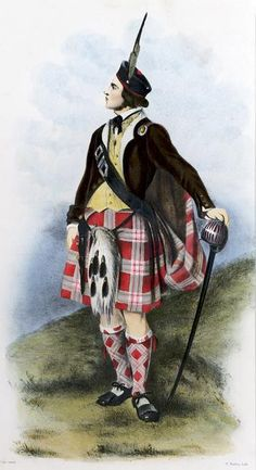 Clan Menzies, Scotland by R.R Mclan from The Clans of the Scottish Highlands | 1845