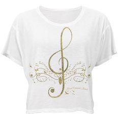 #GoldGlitterMusic #WhiteBellaFlowyBoxyLightweight #CropTopTee by ?#MoonDreamsMusic