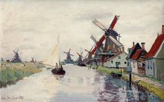 Moulins en Hollande (C Monet - W 180)