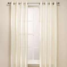 love these  in third to last color available... B. Smith Origami Grommet Window Curtain Panels - BedBathandBeyond.com