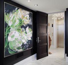 Abstract Flower Oil Painting #LX29A, Floral art canvas painting, hand painted painting on canvas by CZ Art Design @CelineZiangArt