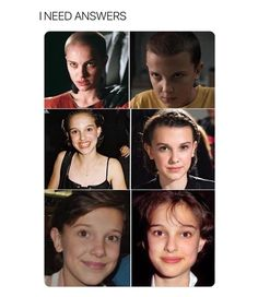 millie looks so much like Natalie Portman, they're both so beautiful