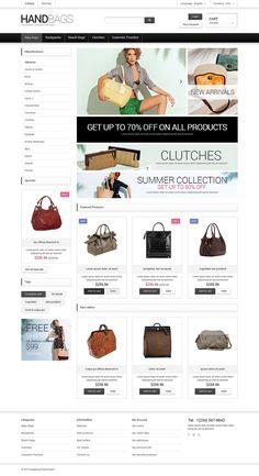 15+ Great Handbag and Manbag Store Ecommerce PrestaShop Themes - Fancy Bags Shop