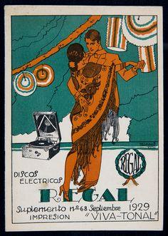"Discos Eléctricos Regal. Impresión ""Viva-Tonal"" (Suplemento no. 68, Septiembre 1929) (Biblioteca de Catalunya) Ephemera, Comic Books, Comics, Cover, Movie Posters, Art, September, Vinyls, Impressionism"