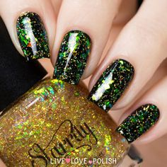 Swatch of Starrily Magical Mystery Nail Polish