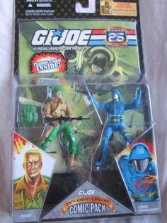 Gi Joe Comic Pack Cobra Commander Duke 25th Anniversary Pack NIP 2007 | eBay