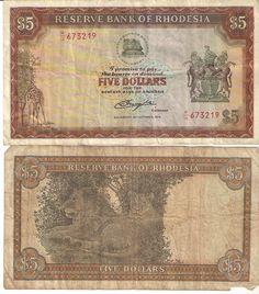Reserve Bank of Rhodesia - 5 Rhodesian dollars