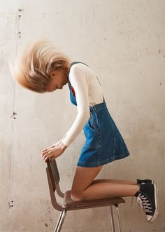 Urban Outfitters Denim Dungaree Dress