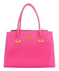 Look what I found on #zulily! Pink Abella Leather Tote by Segolene En Cuir #zulilyfinds