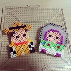 Woody and Buzz - Toy Story perler beads by wndms_0204