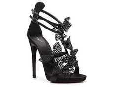 Giuseppe Zanotti Leather Flower Sandal   DSW