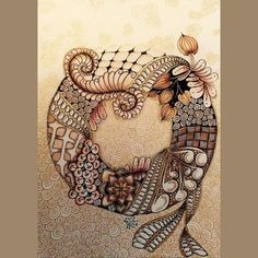 Tangle Doodle, Tangle Art, Doodles Zentangles, Zen Doodle, Zentangle Patterns, Doodle Art, Zen Art, Doodle Drawings, Renaissance