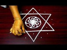 How to Draw Kubera Kolam - Kubera rangoli for the blessings of Lord Kubera - Kubera muggu designs - YouTube