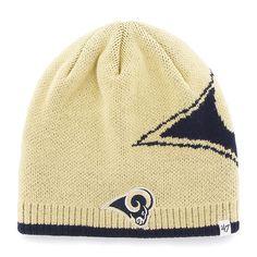 d77098f01610c Los Angeles Rams Peaks Beanie Light Gold 47 Brand Hat