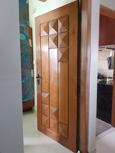 Lesser Seen Options for Custom Wood Interior Doors Modern Entrance Door, Modern Wooden Doors, Exterior Entry Doors, Contemporary Front Doors, Flush Door Design, Door Gate Design, Wooden Front Door Design, Wooden Front Doors, Bedroom Door Design
