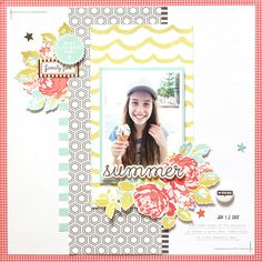 Summer Layout by Mandy Melville