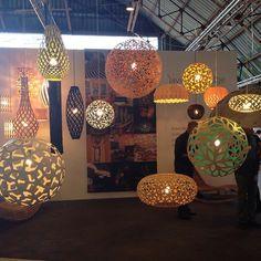 The wakaNINE and David Trubridge booth at West Edge Design Fair, 2014 - #lighting