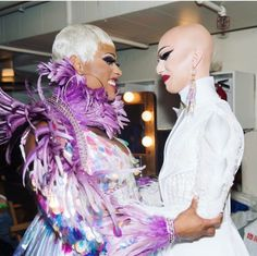 Sasha Velour and Peppermint