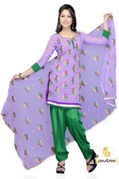 Lush Lavender and Green Color Printed Salwar Suit  Anarkali Salwar Suit, Party Wear Salwar Suit, Salwar Suit, Embroidery Salwar Suit