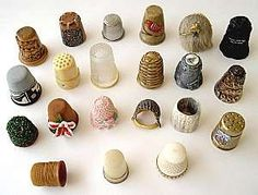Materials used to make thimbles varies widely; some of which were porcelain, wood, glass, ivory, bone, plastic, celluloid, and Bakelite, among others.