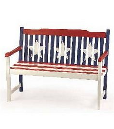 Americana Painted Bench : garden & patio : home decor & fabrics :  Shop | Joann.com