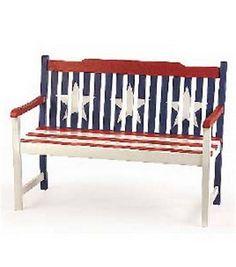 Americana Painted Bench: garden & patio: home decor & fabrics: Shop | Joann.com