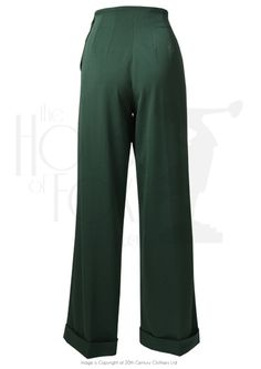 1940s Swing Pants - Racing Green