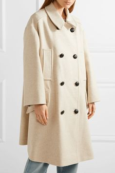 Étoile Isabel Marant - Flicka Double-breasted Wool-blend Coat - Ecru - FR42