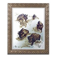 """Trademark Art """"Winter Thunder"""" by Lowell S.V. Devin Framed Painting Print Size: 20"""" H x 16"""" W x 0.5"""" D"""