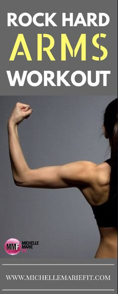Home workout for toned arms.