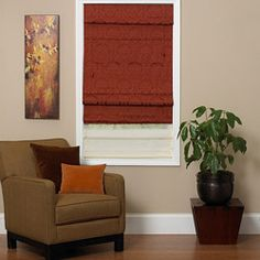 @Overstock - This fabric Roman shade features a removable 6-inch valance and matching tassel/. This shade adds warmth to any room in your home.http://www.overstock.com/Home-Garden/Antique-Red-Fabric-Roman-Shade-23-in.-x-72-in./6284494/product.html?CID=214117 $31.49