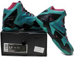 Lebron 11 Blue Black Pink Shoes1