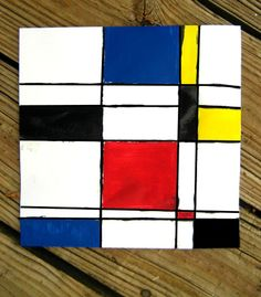 Introducing kids to famous artists at a young age is a great idea for summertime! Start with this simple project to learn about and mimic some of Piet Mondrian's techniques.