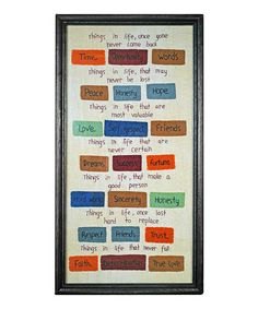 Take a look at this 'Things in Life' Frame by Pearson's Simply Primitives on #zulily today!