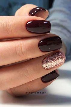 New Years Nail Designs, Fall Nail Designs, Acrylic Nail Designs, Fingernail Designs, Cute Simple Nail Designs, Cute Simple Nails, Fall Gel Nails, New Year's Nails, Nails For New Years