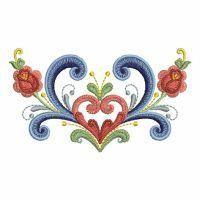 Rosemaling Roses (designer, Ace Points)  OregonPatchWorks.com