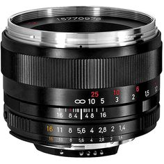 The Zeiss Planar T* 50mm f/1.4 ZF.2 Lens for Nikon F-Mount cameras is a bright and compact standard lens with precise manual focusing with a large rotation angle for precise control. For Nikon F-Mount
