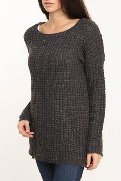 Romeo and Juliet Couture Oversized Textured Sweater