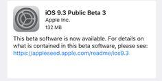 Apple lanza la tercera beta pública de iOS 9.3