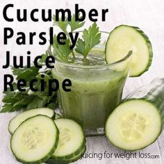 This cucumber parsley juice recipe is a super green juice recipe that is great for detoxing and is low calorie if you are juicing for weight loss.