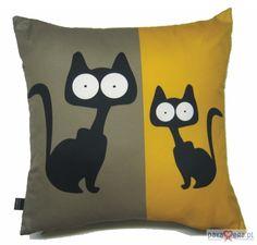 Poduszka z dwoma kotami