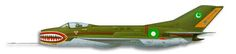 Mikoyan-Gurevich MiG-19 Farmer Operators: Bangladesh, Cambodia, Sri Lanka (CJ-6), China, Egypt, Iran, Sudan, Tanzania, Vietnam, Zambia