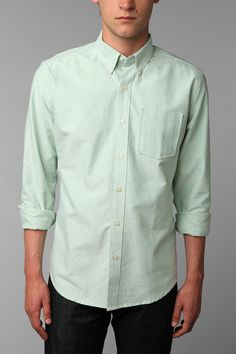 Hawkings McGill Oxford Shirt, mint green for groomsmen.