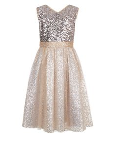 Shimmer and shine with our Tara sequin-embellished party dress for girls, crafted with a sparkling fitted bodice and a softly-gathered skirt. Lined for comfo...