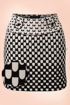 King Louie 60s Gemma Motown Skirt in Black