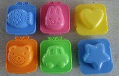 APT® Egg plate 6pcs set Star Fish Car Heart Rabbit Bear Shape